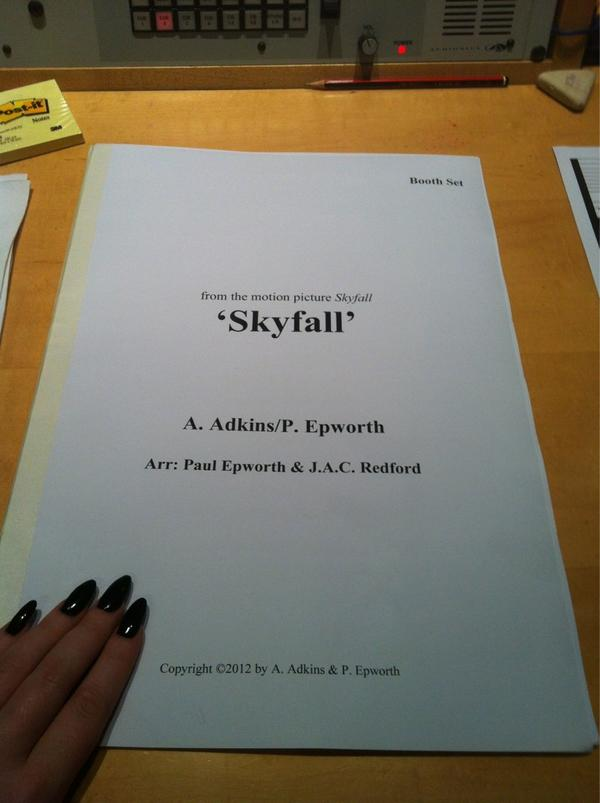 Adele Skyfall Sheet Music