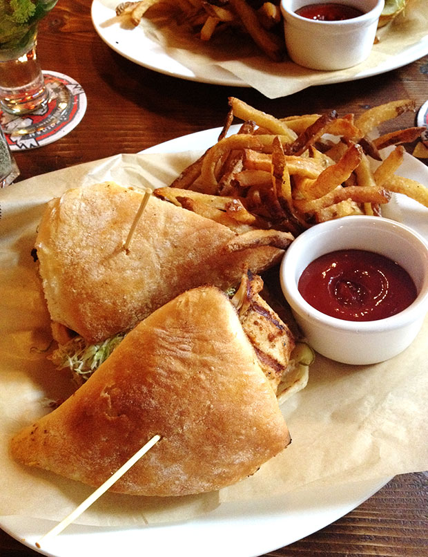 Guy's American Kitchen sandwich