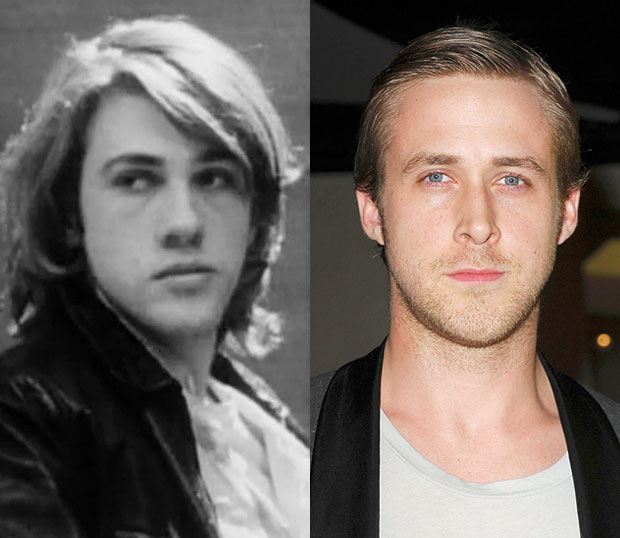 Young Christoph Waltz and Ryan Gosling