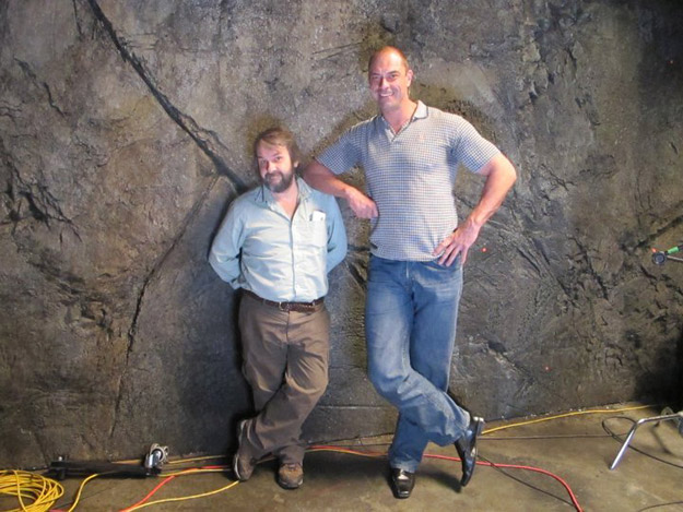 Peter Jackson and Conan Stevens in The Hobbit