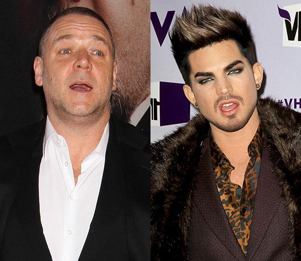 Les Mis Russell Crowe Adam Lambert Twitter Feud