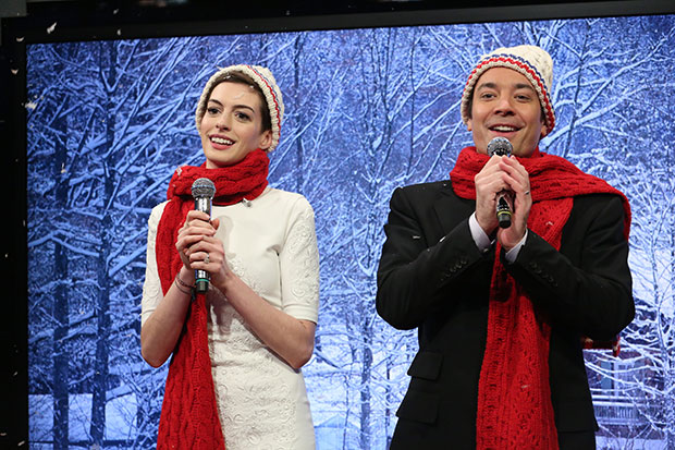 jimmy fallon anne hathaway mad libs christmas carols