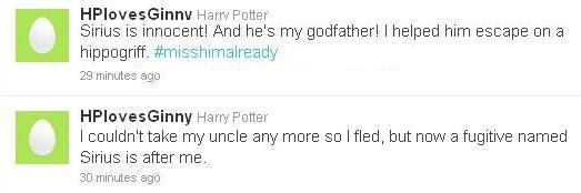 Harry Potter Tweet