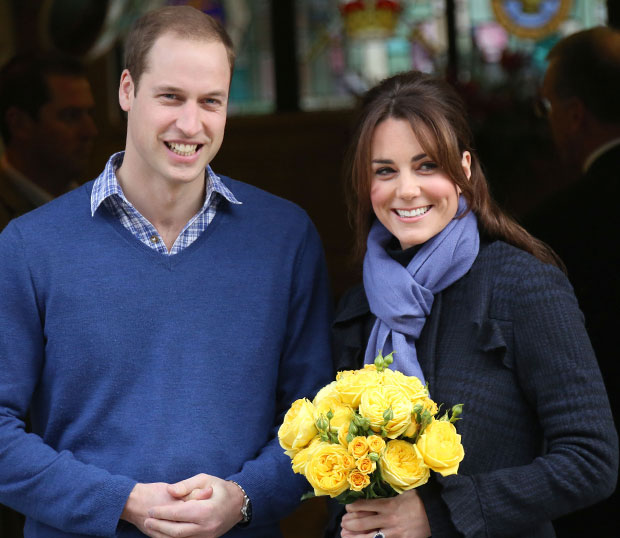 kate middleton pregnant leaves hospital