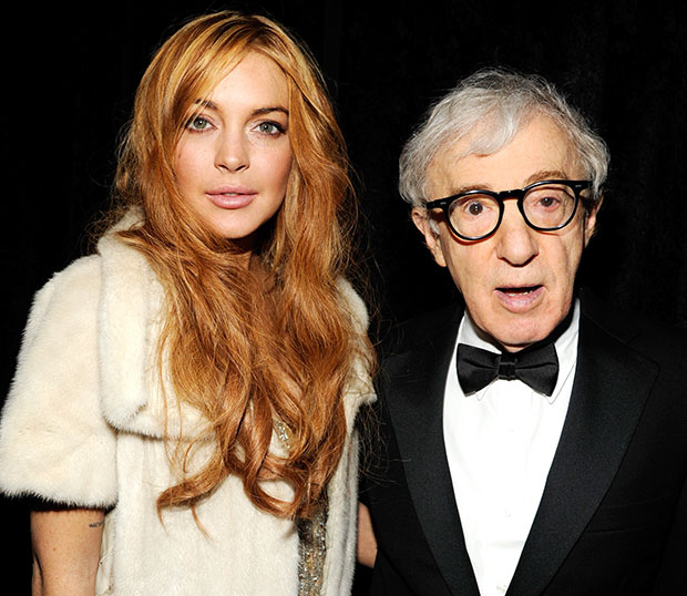 Lindsay Lohan and Woody Allen at New York Fashion Week