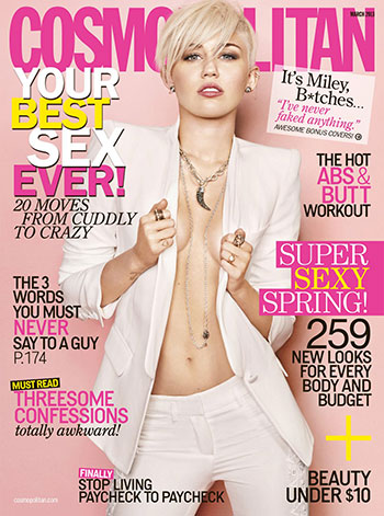 Miley Cyrus on Cosmo cover