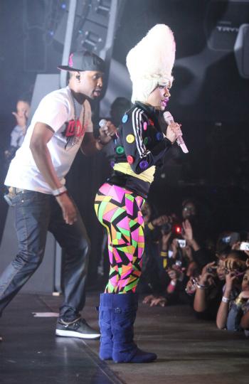 Nicki Minaj colorful