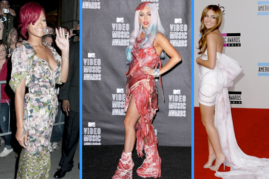 Fashion Nightmares, Lay Gaga, Miley Cyrus, Rihanna
