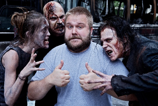 Robert Kirkman Walking Dead on Set