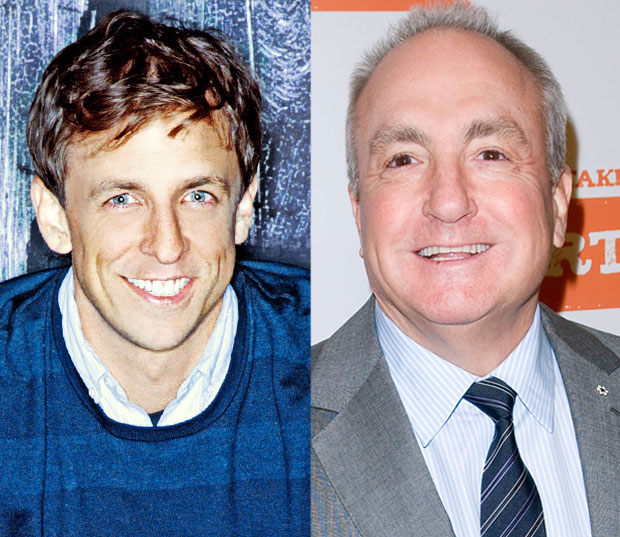 Seth Meyers and Lorne Michaels