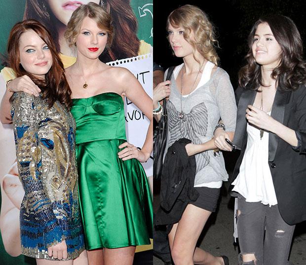 Taylor Swift Emma Stone Selena Gomez