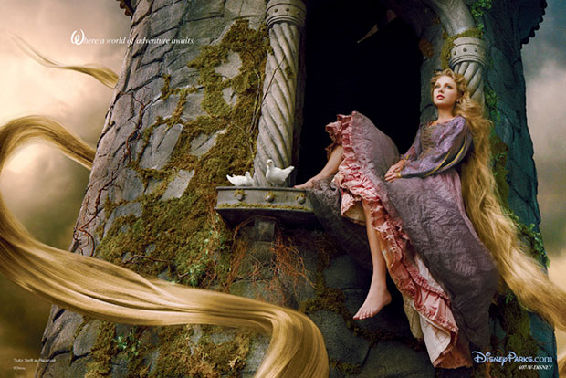 Taylor Swift is Rapunzel in Disney Parks photo shoot