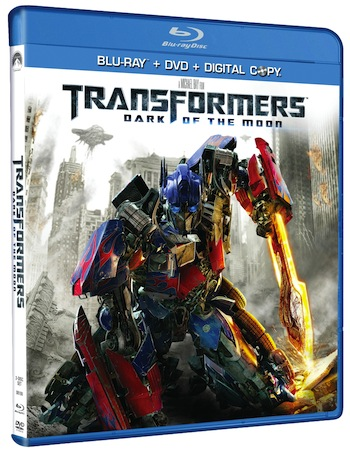 Transformers Dark of the Moon 3D Blu ray Box Art