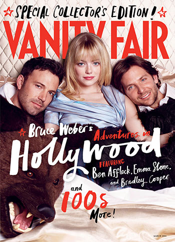 Ben Affleck, Emma Stone, and Bradley Cooper on Vanity Fair's Hollywood Issue